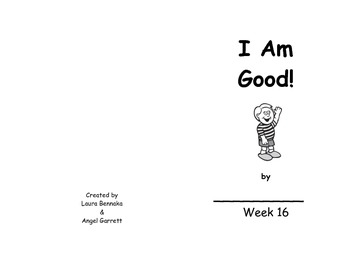 I Am Good Sight Word Book- Week 16
