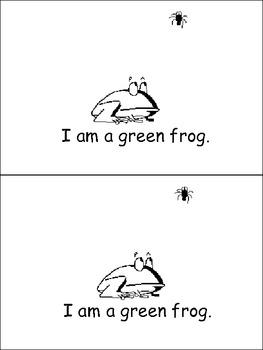 I Am Green Emergent Reader- Preschool or Kindergarten- Colors Green