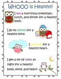 Whooo is Healthy Owl Poster for School Nurse and Health Teacher
