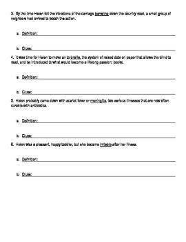 I Am Helen Keller-Context Clues