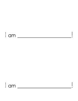 Sight Word Emergent Reader: I Am (I, a)