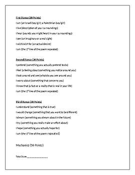 I Am Israeli Palestinian Poem