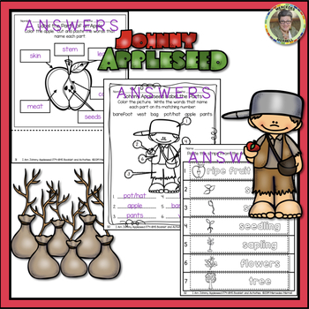 I Am Johnny Appleseed ... 1774-1845 Booklet and Activities