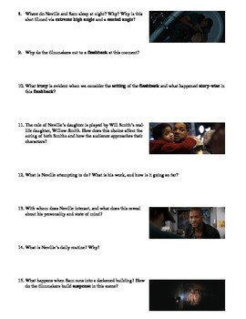 I Am Legend Film (2007) Study Guide Movie Packet