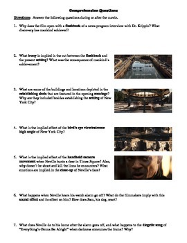 I Am Legend Film 2007 Study Guide Movie Packet