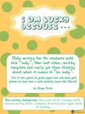 I Am Lucky Four-Leaf Clover Writing Template