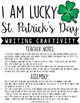 I Am Lucky... St. Patrick's Day Writing Craftivity