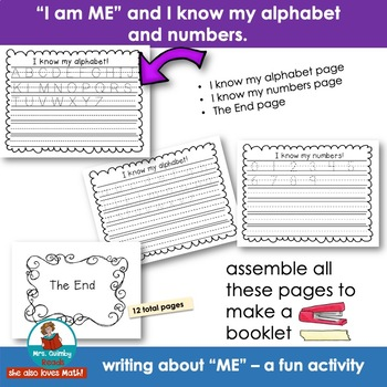 Writing Booklet for Primary Writers - I am ME - Getting to Know You