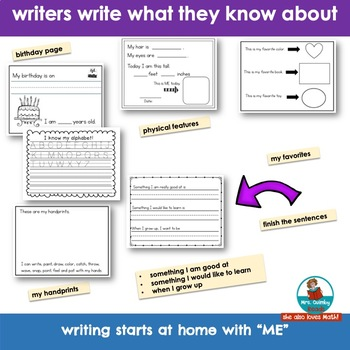 Writing Booklet for Primary Writers | I am ME | Getting to Know You