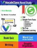 I Am Malala Book Novel Study Guide PDF | READING QUIZ | VOCABULARY |  GAMES +