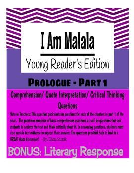 I Am Malala - Part 1 Questions