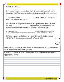 I Am Malala Quiz (Parts 1 & 2)