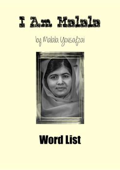 I Am Malala (Word List)