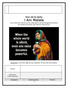 I Am Malala - Young Reader's Edition - Lesson 1