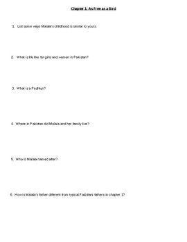 I Am Malala Young Readers Edition Questions