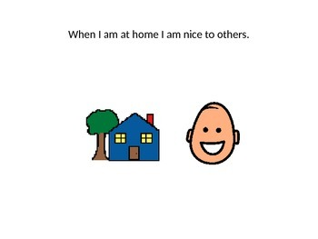 I Am Nice To Others Social Story