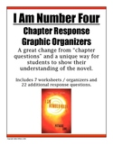 I Am Number Four - Novel Response / Chapter Worksheets
