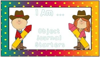 I Am ... Object Journal Starters
