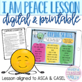 I Am Peace Lesson, Digital & Printable Counseling Activities