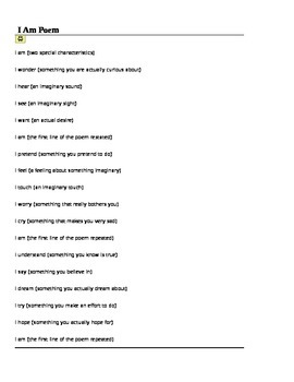 I Am Poem