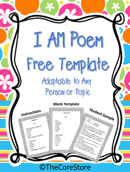 I Am Poem Free Template