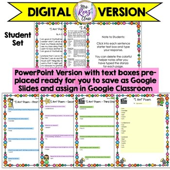 I Am Poem A Great Poetry Lesson That's a Great Back to School Writing Activity