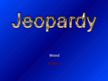 I Am Poem Unit – Jeopardy (Mood) – Lesson Plan 6