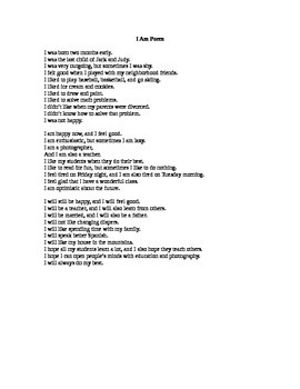 I Am Poem Unit - Putting it All Together (Writing Their Draft)