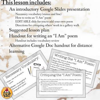 I Am Poem for High School FREEBIE