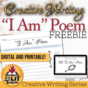 I Am Poem for High School Creative Writing FREEBIE