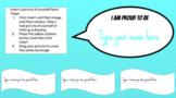 I Am Proud to Be ME -Self-Esteem Builder Back to School Digital Activity