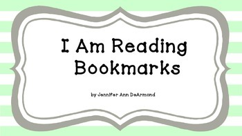 I Am Reading Bookmarks