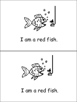 I Am Red Emergent Reader- Preschool or Kindergarten- Color Red