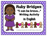 Ruby Bridges Writing Activities in English