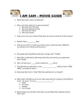 I am sam teaching resources teachers pay teachers i am sam movie guide fandeluxe Choice Image