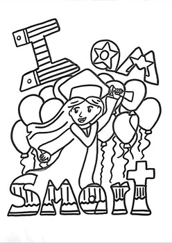 I Am Smart Affirmation Coloring Page