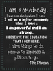 I Am Somebody - Quote for Kids