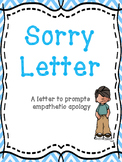 FREE I Am Sorry Letter