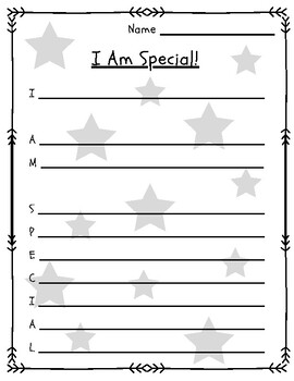 graphic about Printable Acrostics called I Am Exceptional Acrostic Poem as a result of Inspiring Instructor TpT