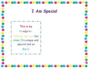 I Am Special, Handprint Art