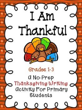 I Am Thankful - Thanksgiving Activity Book