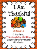 Thanksgiving Book - I am Thankful