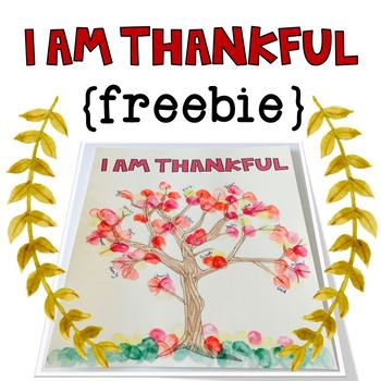 I Am Thankful: A Fall Craft Freebie