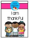 Thanksgiving Rhyming Book
