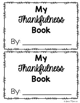 FREE I Am Thankful Writing Book (Thanksgiving)