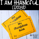 FREE Thanksgiving I Am Thankful Writing Book