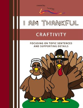 Thanksgiving Writing Craftivity – I Am Thankful: Highlighting Paragraph Writing