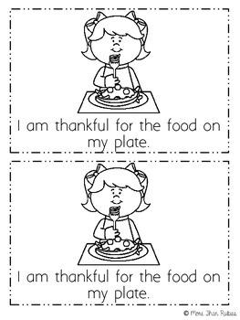 I Am Thankful (Thanksgiving) Emergent Reader