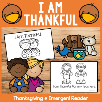 I Am Thankful | Emergent Readers | Thanksgiving