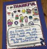 I Am Thankful FREE Writing About Gratitude - Whimsy Workshop Teaching